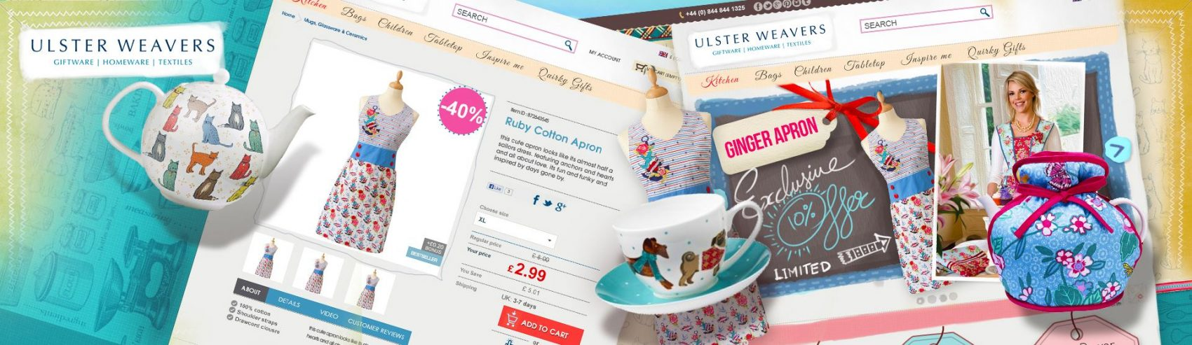 ulster weavers wholesale magento banner