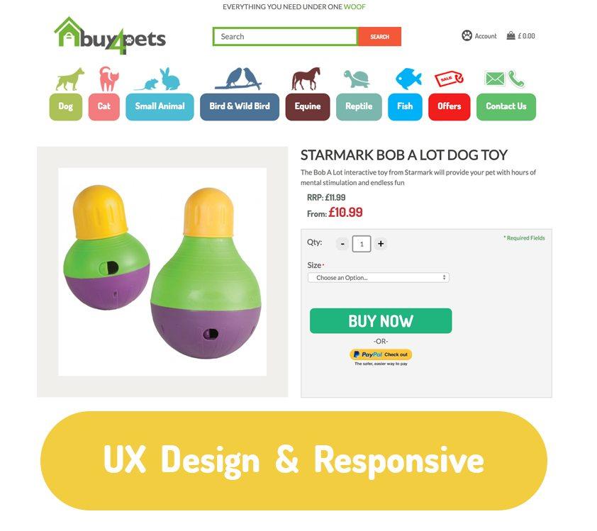 buy4pets ecommerce banner image