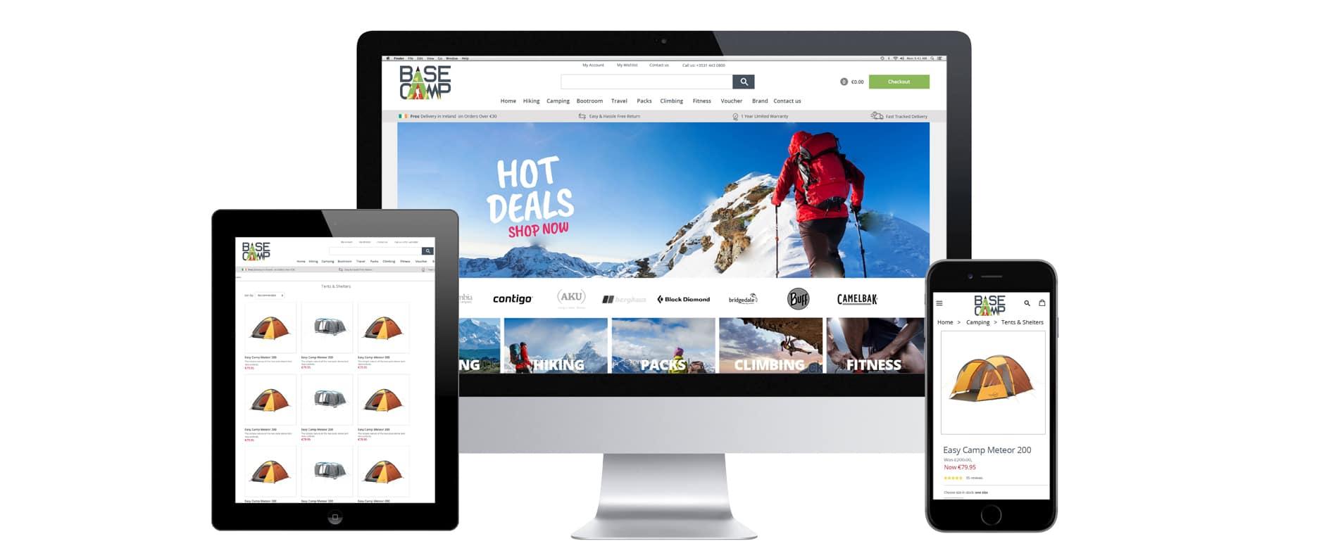 basecamp ecommerce web design belfast