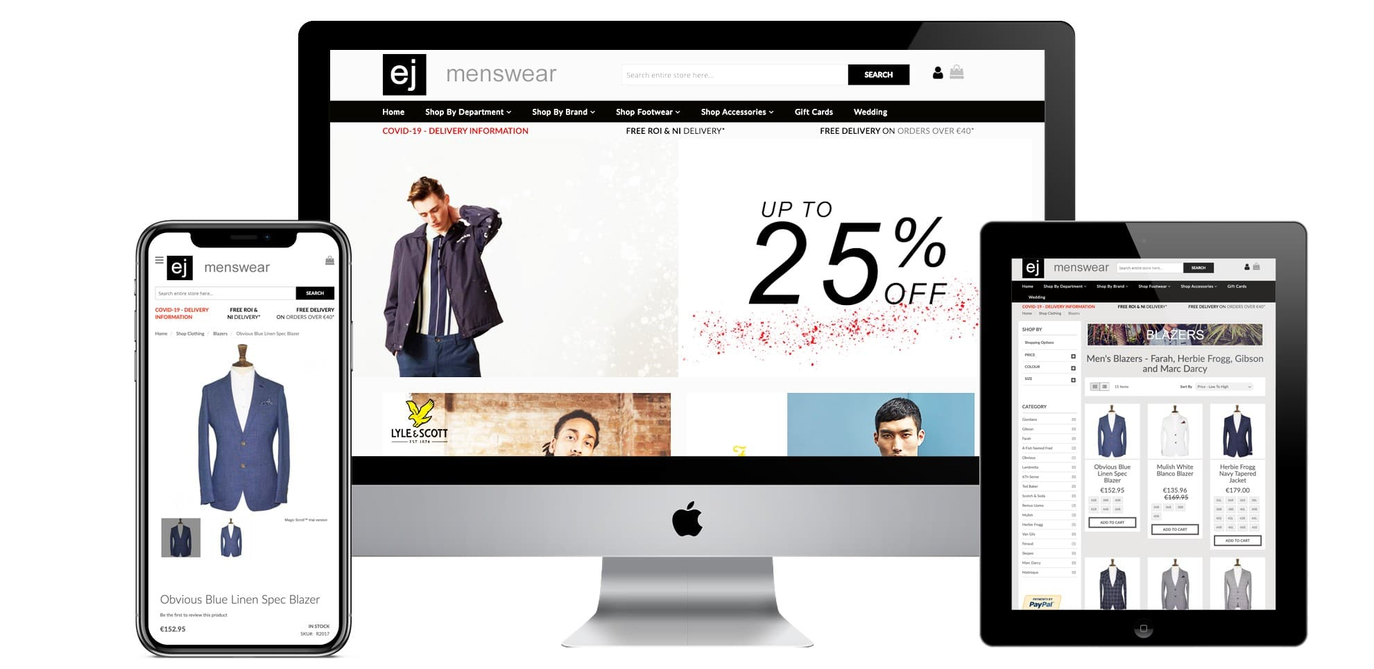 EJ Magento 2 ecommerce web design Northern Ireland